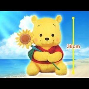 "NWT Winnie the Pooh 14"" Red Cheek Sunflower"